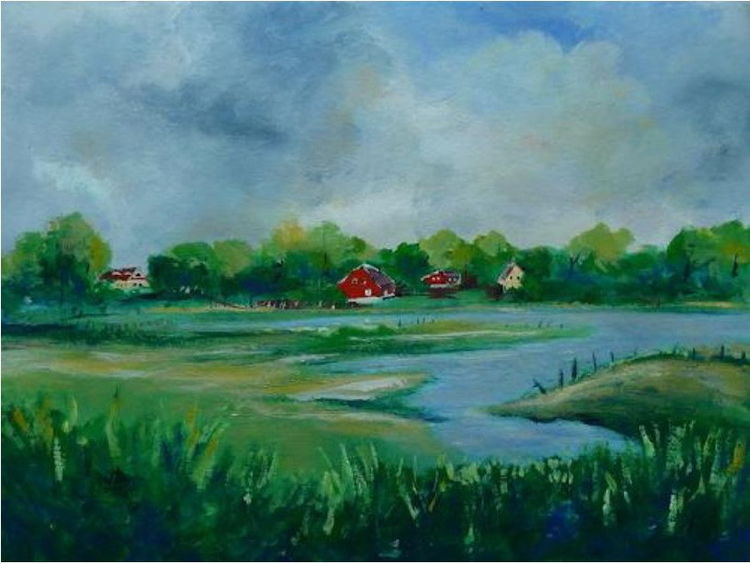 Dierhagen, Buhne, Bodden, Neoexpressionismus, Strandkorb, Zingst
