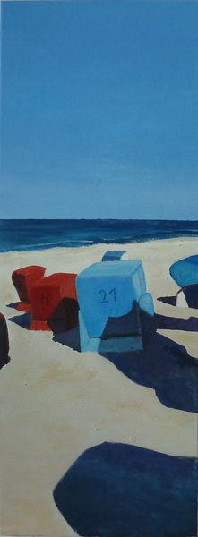 Bodden, Neoexpressionismus, Strandkorb, Dierhagen, Buhne, Darß