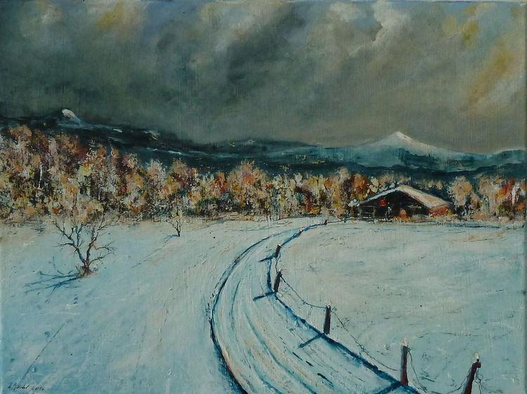 Winter, Berge, Wald, Ski, Schnee, Natur