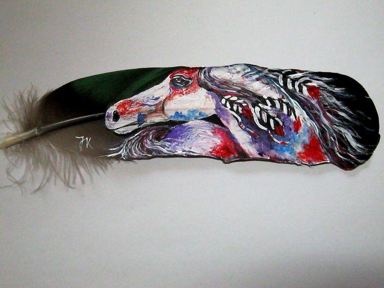 Pferde, Malerei, Feder malerei