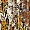Struktur, Gelb, Acrylmalerei, Braun