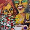 Bunt, Malerei, Cafe