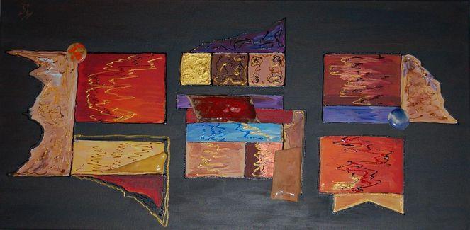 Bunt, Abstrakt, Keramil, Malerei