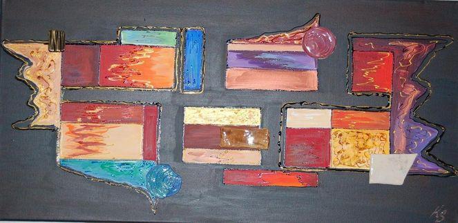Abstrakt, Bunt, Keramik, Malerei