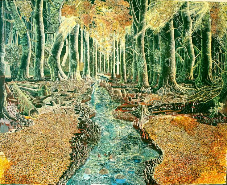 Fluss, Zauberwald, Wald, Natur, Baum, Herbstwald