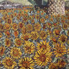 Feld, Windmühle, Sonnenblumen, Malerei