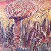 Ölmalerei, Pilzwolke, Nukleare bedrohung, Surreal