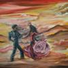 Tanz, Wolken, Frau, Mann