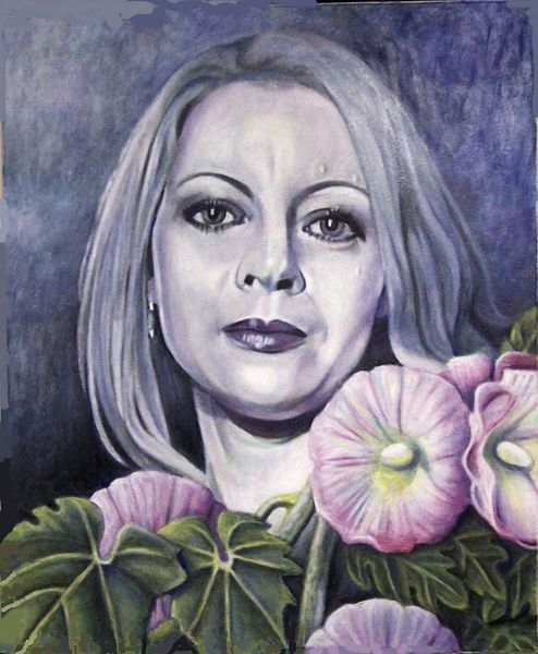 Fantasie frau, Frau, Blumen, Portrait, Malerei