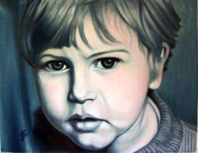 Menschen, Portrait, Kind, Mann, Malerei, Kinderportrait