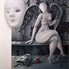 Frau, Fantasie frau, Malerei