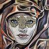 Maske, Malerei, Figural,