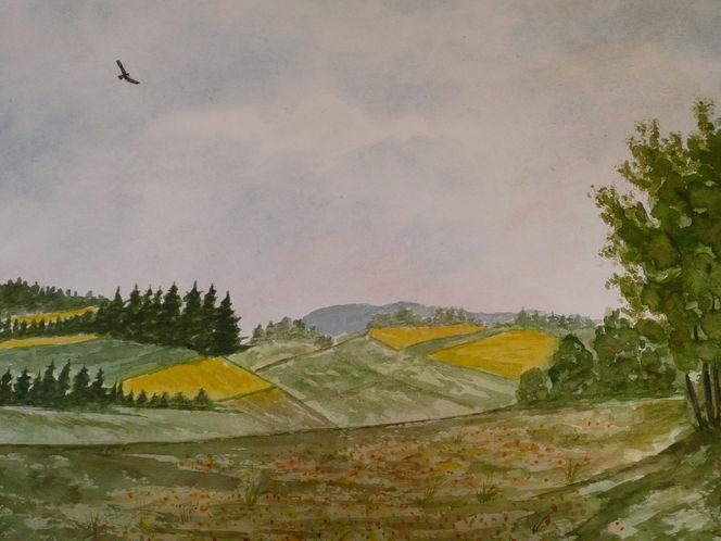 Aquarellmalerei, Aquarell, Landschaft