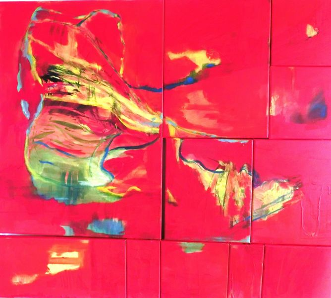 Rot, Landschaft, Wurzel, Schuhe, Malerei