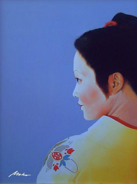 Geisha, Portrait oil ukiyo, Japan, Malerei, Ukiyo, Western