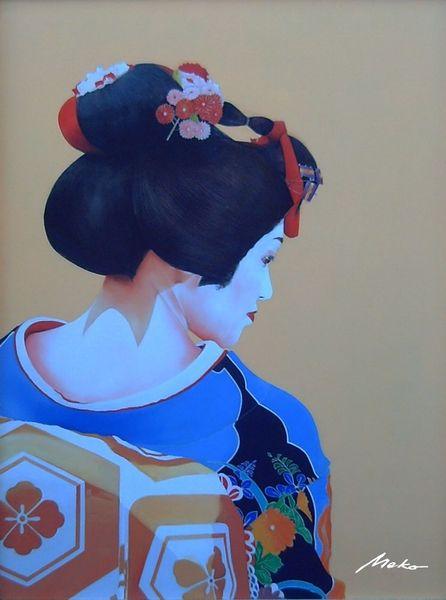 Japan, Portrait oil ukiyo, Geisha, Malerei, Western, Ukiyo