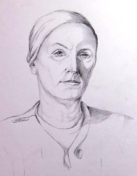 Zeichnung, Frau, Bleistiftzeichnung, Portrait, Zeichnungen, Leben