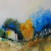 Malerei, Aquarellmalerei, Stimmung, Landschaft