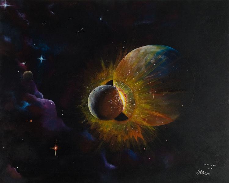 Universum, Planet, Stern, Malerei, Zukunft