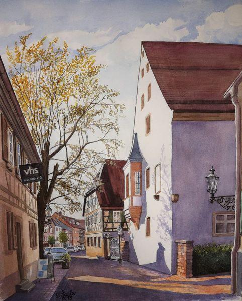 Odenwald, Malen, Wasserfarben, Volkshochschule, Geschichte, Bauernkrieg