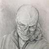Bleistiftzeichnung, Perspektive, Realismus, Selbstportrait