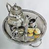 Teekanne, Silber, Modern, Stillleben