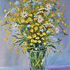 Natur, Blumen, Glas, Schafgarbe