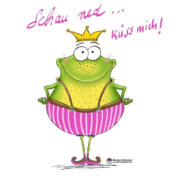 Humor, Frosch, Prinzessin, Kindermode, Cartoon, Königin