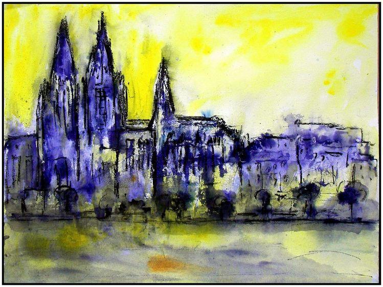 Marmormehl, Aero color, Kölner dom, Malerei, Dom, Kölner