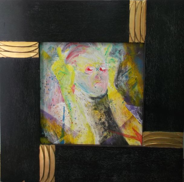 Rahmen, Hana man, Sommerkahl, Sprühdose, Malerei, It