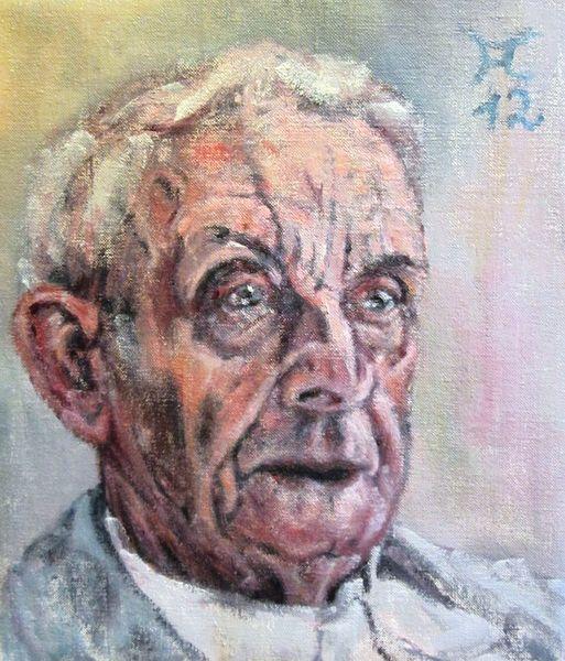 Mann alt blick, Malerei, Menschen, Blick