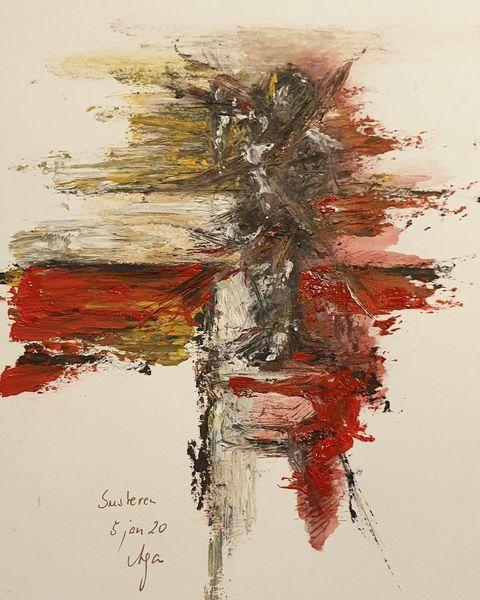 Pfeil, Rot, Licht, Malerei, Abstrakt,