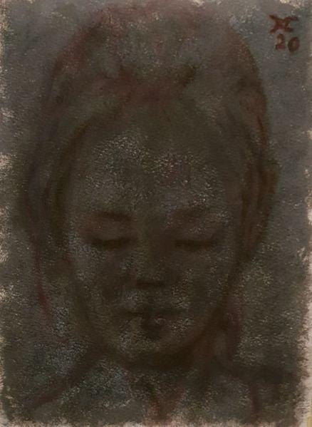 Frau, Blick, Augenschein, Malerei