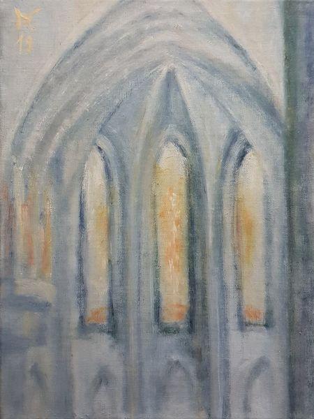 Fenster, Gotik, Sonne, Licht, Malerei