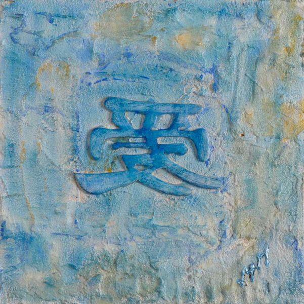 Blau, Zeichen, Glück, Symbol, Malerei