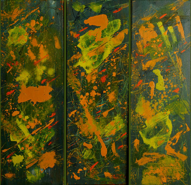Natur, Orange, Sommer, Naturfarben, Taube, Tryptichon