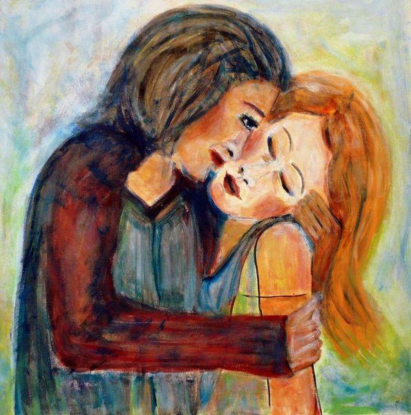 Einklang, Paar, Expressionismus, Gefühl, Mann, Frau