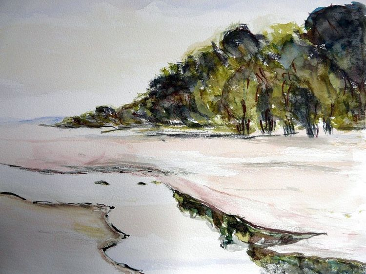 Wald, Fluss, Ruhe, Abstrakt, Ferne, Landschaft