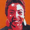 Farblinoldruck, Linolcut, Portrait, Hockdruck