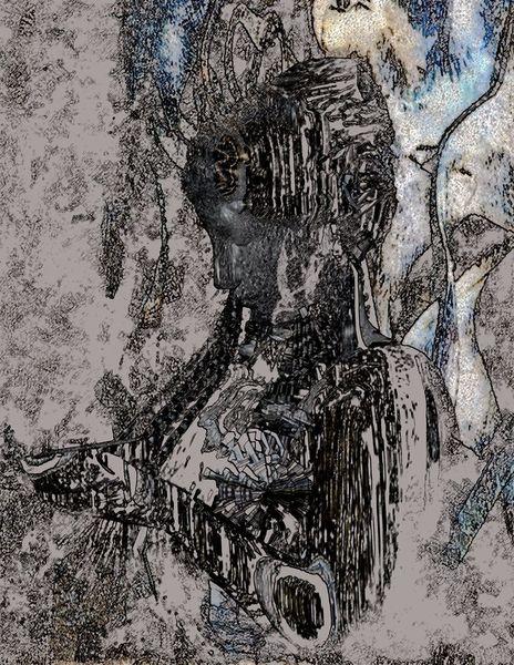Lilith, Seltsam, Bedrohung, Ein chaos, Dunkel, Digitale kunst