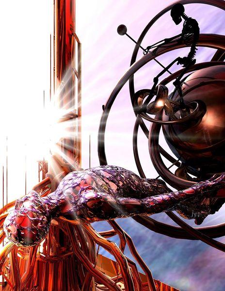 Kosmisch, Funktion, Licht, Abstrakt, Digitale kunst