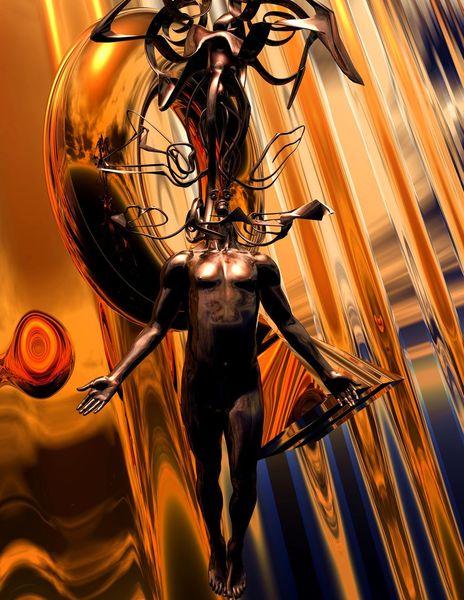 Denken, Göttliche eingebung, Digitale kunst
