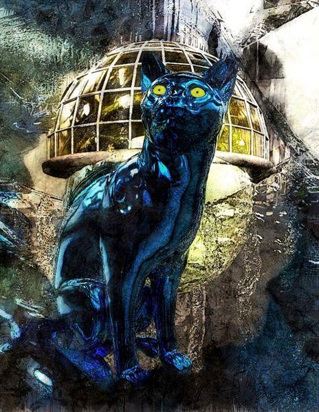 Sammler moderne kunst, Digital, Fantasie, Digitale kunst, Surreal, Katze