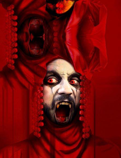 Flammen, Vampir, Faust, Spuk, Verknüpfung, Digitale kunst