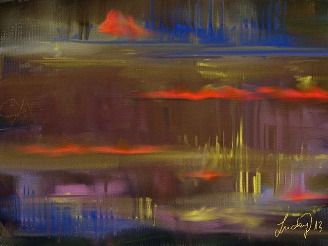 Abstrakt, Landschaft, Frei, Malerei,