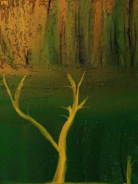 Einsamkeit, Baum, Digitale kunst