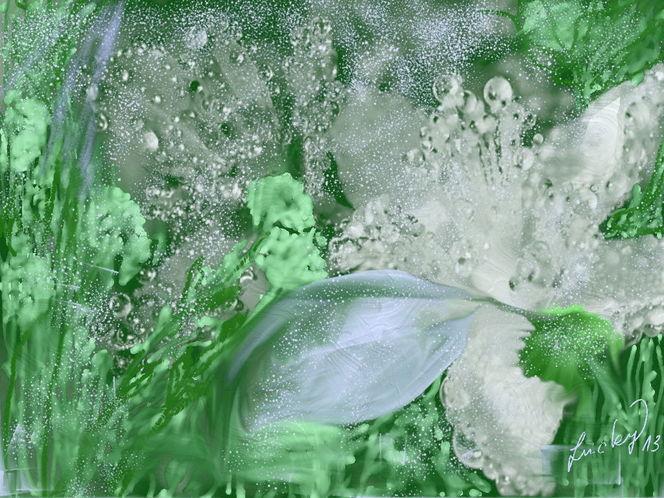 Eisblume, Malerei
