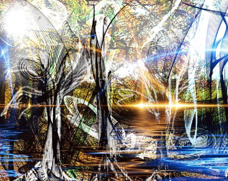 Kunstnet werke malerei landschaften tanzende bäume