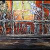Gestaltung, Ölmalerei, Abstrakt, Verfremdung