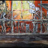 Verfremdung, Nächtliche szene, Interpretation, Ölmalerei